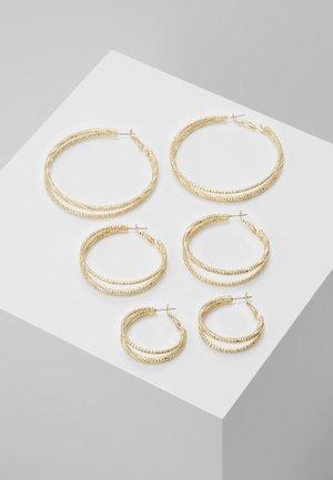 DOUBLE HOOP 3 PACK - Boucles d'oreilles - gold-coloured