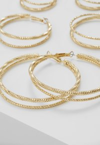 Missguided - DOUBLE HOOP 3 PACK - Earrings - gold-coloured - 4