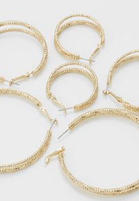 Missguided - DOUBLE HOOP 3 PACK - Earrings - gold-coloured - 2