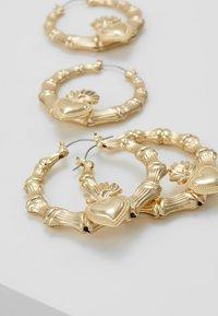 Missguided - STATEMENT HEART HOOPS 2 PACK - Oorbellen - gold-coloured - 4