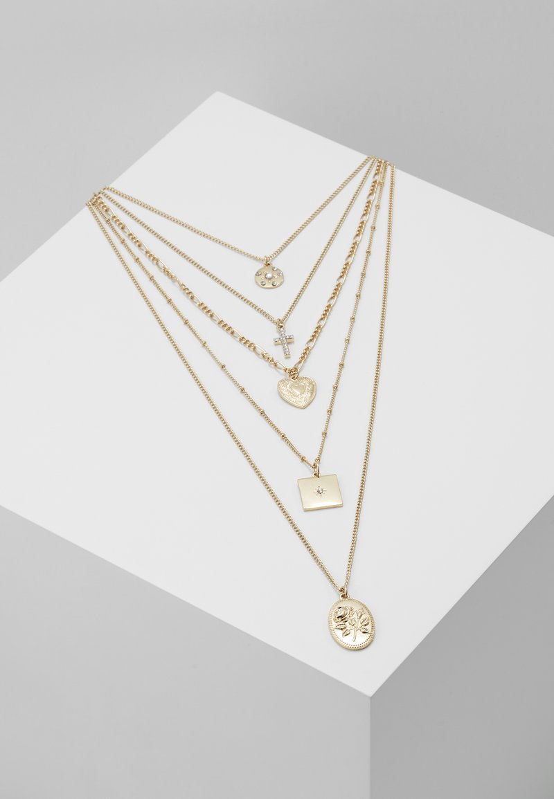 Missguided - MEGA CHARM LAYERING - Halskette - gold-coloured