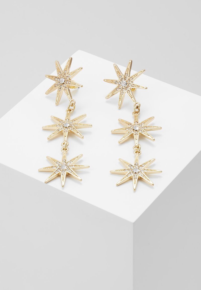 Missguided - TRIPLE STAR - Pendientes - gold-coloured