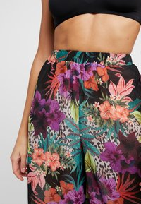 Missguided - TROPICAL FLORAL TROUSER - Strandaccessories - black - 4