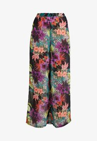 Missguided - TROPICAL FLORAL TROUSER - Strandaccessories - black - 3