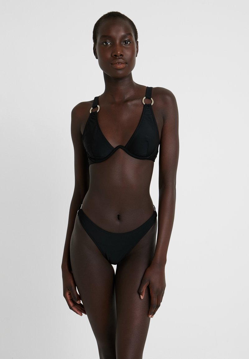 Missguided - RING DETAIL TRIANGLE EXCLUSIVE - Bikini - black