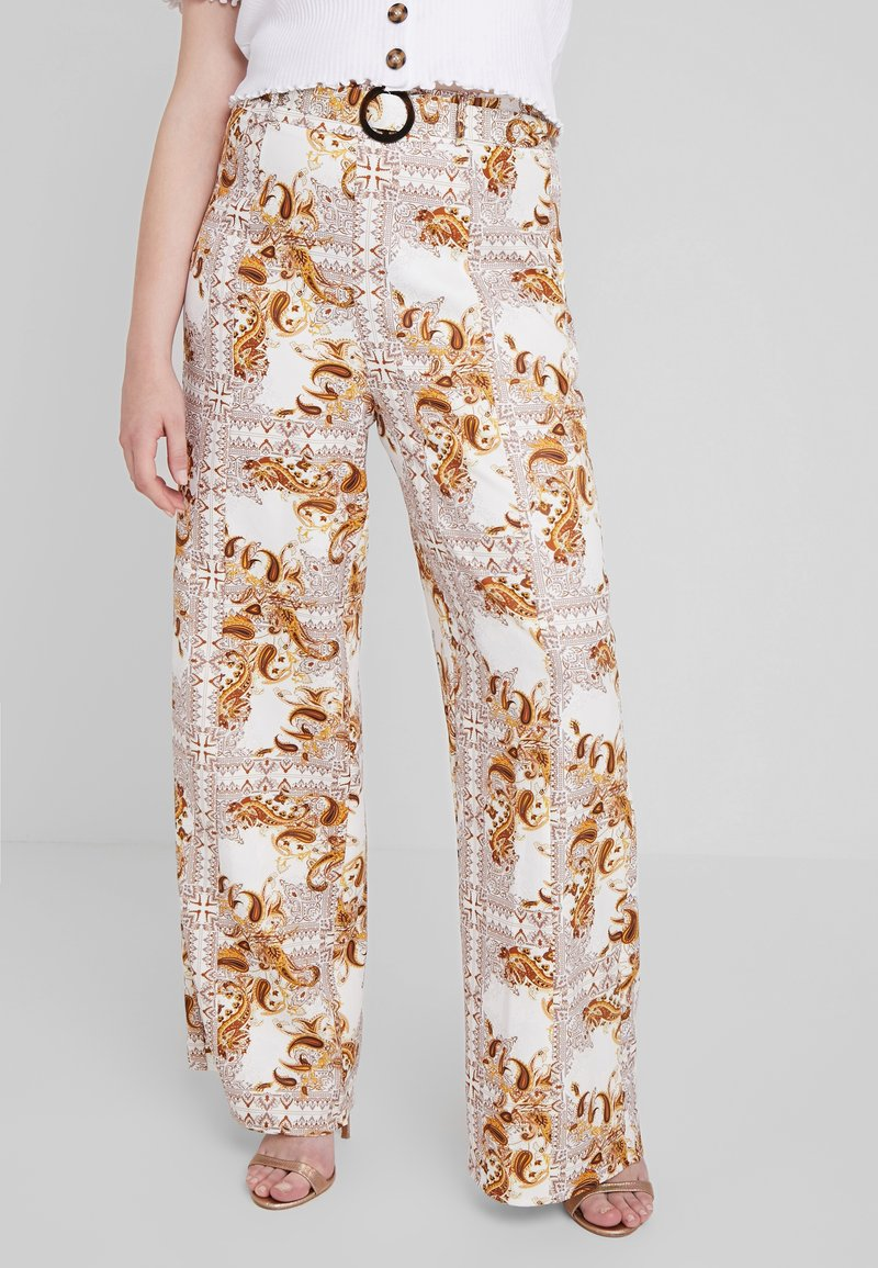 Missguided Plus - PLUS SIZE PALAZZO PANTS - Pantalon classique - white