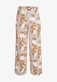 Missguided Plus - PLUS SIZE PALAZZO PANTS - Pantalon classique - white - 3