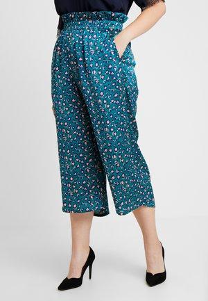 ANIMAL PRINT PAPERBAG WAIST TROUSER - Trousers - green