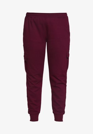 UTILITY POCKET HIGH WAISTED - Joggebukse - wine