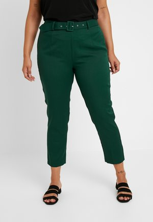 SELF BELT TROUSERS - Kalhoty - deep green/teal