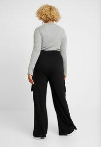 Missguided Plus - COMBAT WIDE LEG TROUSERS - Trousers - black - 2