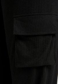 Missguided Plus - COMBAT WIDE LEG TROUSERS - Trousers - black - 5