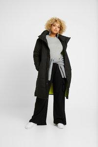 Missguided Plus - COMBAT WIDE LEG TROUSERS - Trousers - black - 1