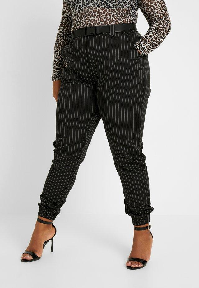 STRIPE TROUSER - Trousers - black