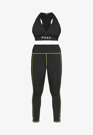 PLUS ACTIVE CONTRAST SEAM TWO SET - Legging - black