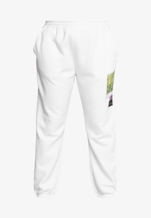 FADED PRINT - Joggebukse - white
