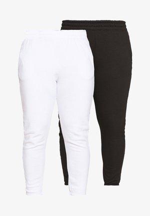 JOGGER 2 PACK - Teplákové kalhoty - black/ white