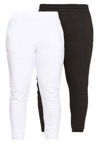 Missguided Plus - JOGGER 2 PACK - Pantalon de survêtement - black/ white - 0