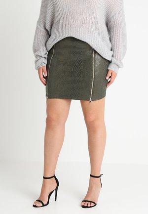 EXCLUSIVE CURVE MINI SKIRT - Falda de tubo - khaki