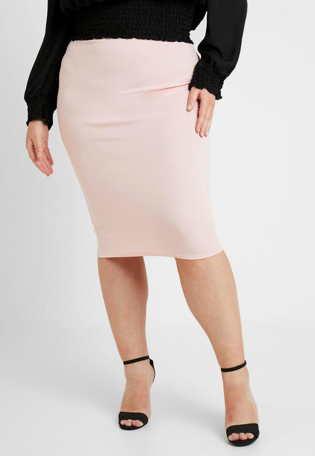 MIDI SKIRT - Pencil skirt - pink