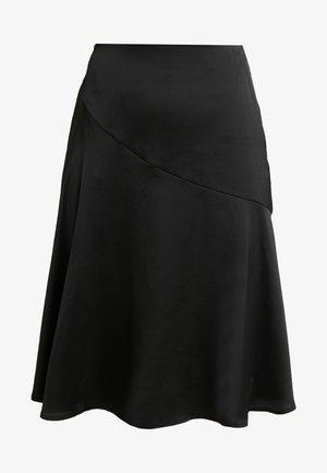 FRILL MIDI SKIRT - A-snit nederdel/ A-formede nederdele - black