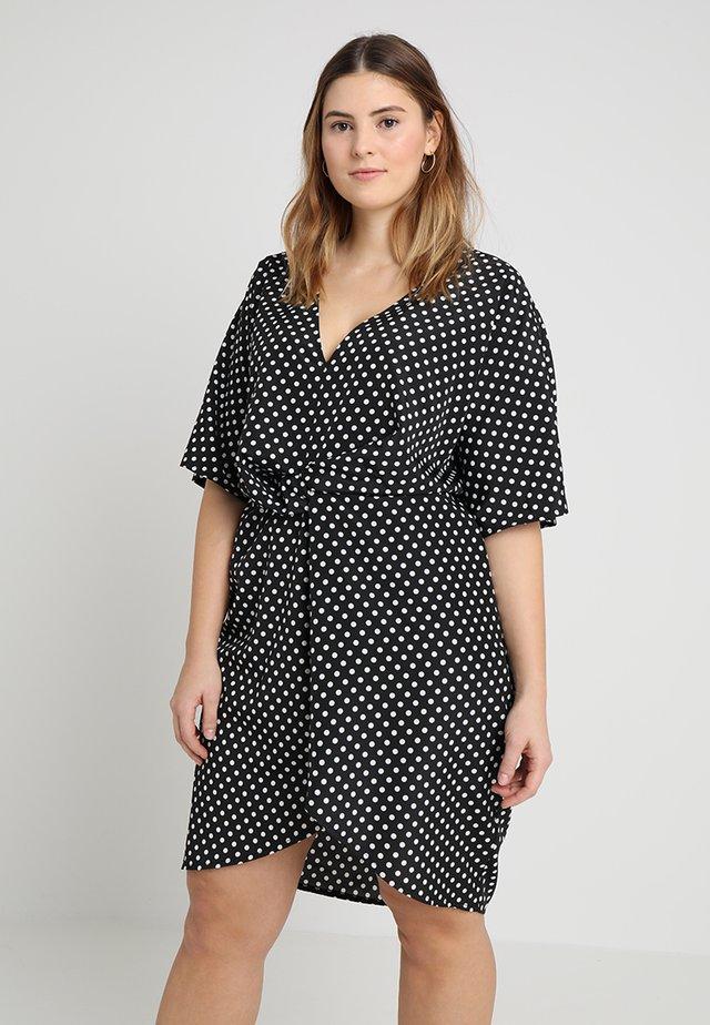 EXCLUSIVE POLKA DOT DRESS - Denní šaty - black
