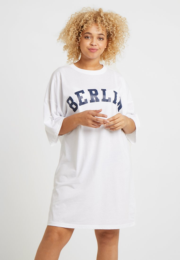 Missguided Plus - DRESS BERLIN - Jersey dress - white