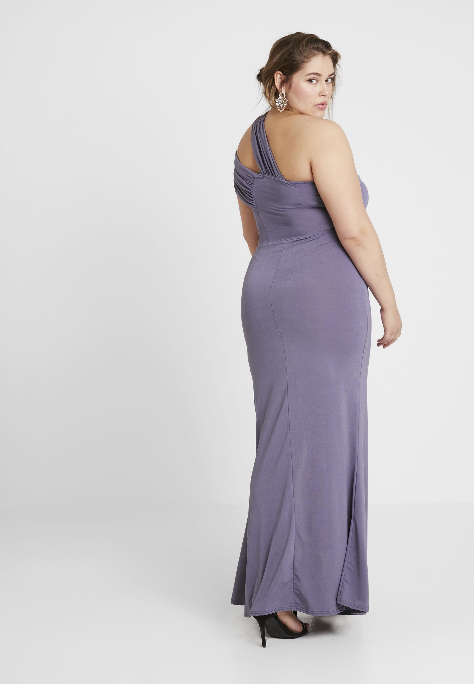 Maxi Plus Shoulder Cocktail One De Missguided Lilac DressRobe IWDH2Y9E