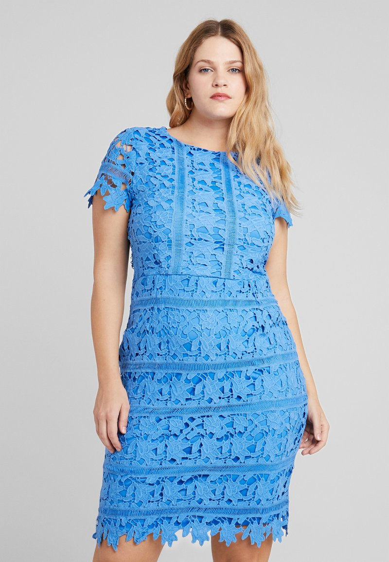 Missguided Plus - CROCHET OPEN BACK MIDI DRESS - Cocktail dress / Party dress - blue