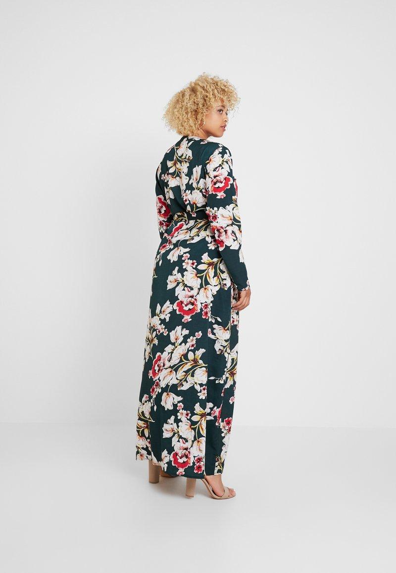 Missguided Plus - CURVE PLUNGE FLORAL DRESS - Maxi dress - green