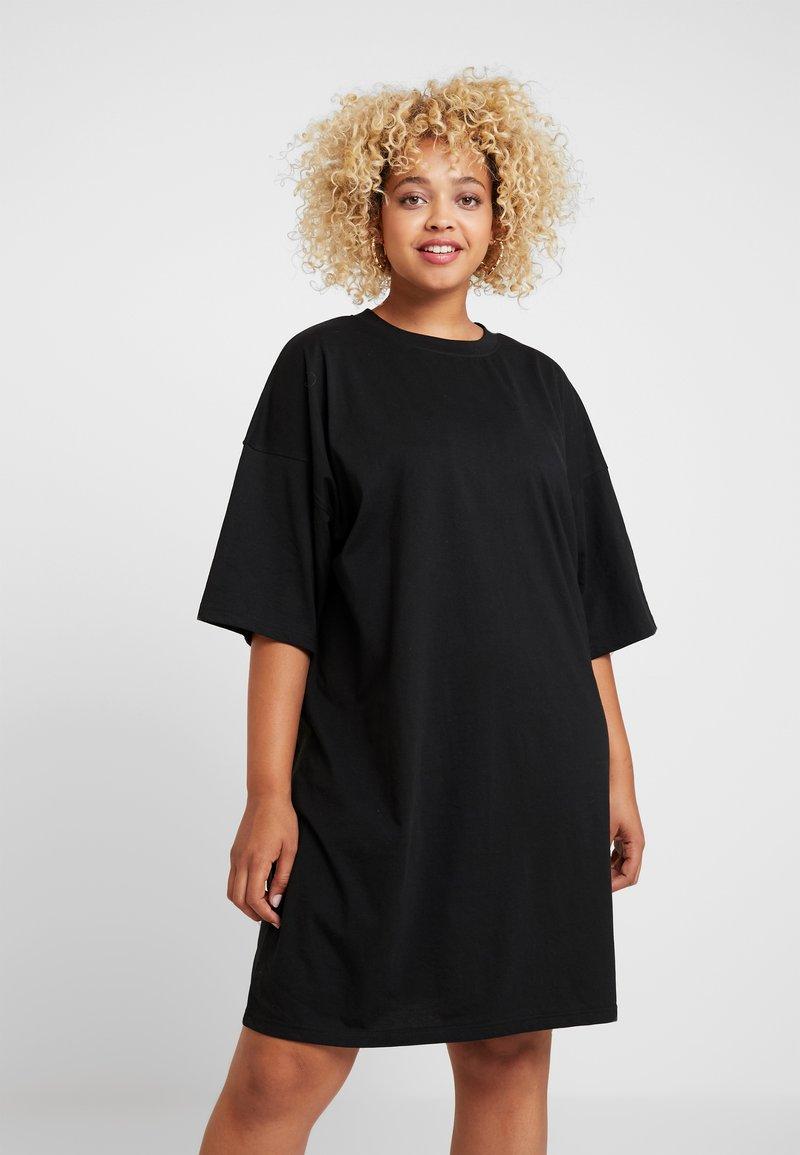 Missguided Plus - CURVE CEST LA VIE DRESS - Vestido ligero - black