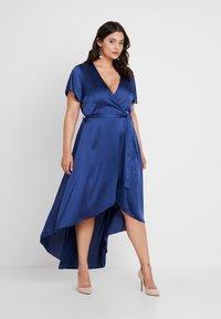 Missguided Plus - WRAP DRESS - Maxi dress - navy - 0