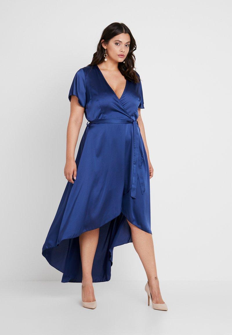 Missguided Plus - WRAP DRESS - Maxi dress - navy