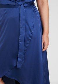 Missguided Plus - WRAP DRESS - Maxi dress - navy - 6