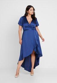 Missguided Plus - WRAP DRESS - Maxi dress - navy - 2
