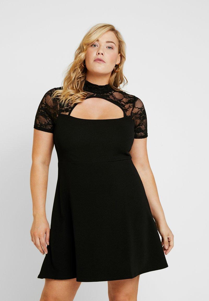 Missguided Plus - FRONT KEYHOLE DRESS - Jerseykjoler - black