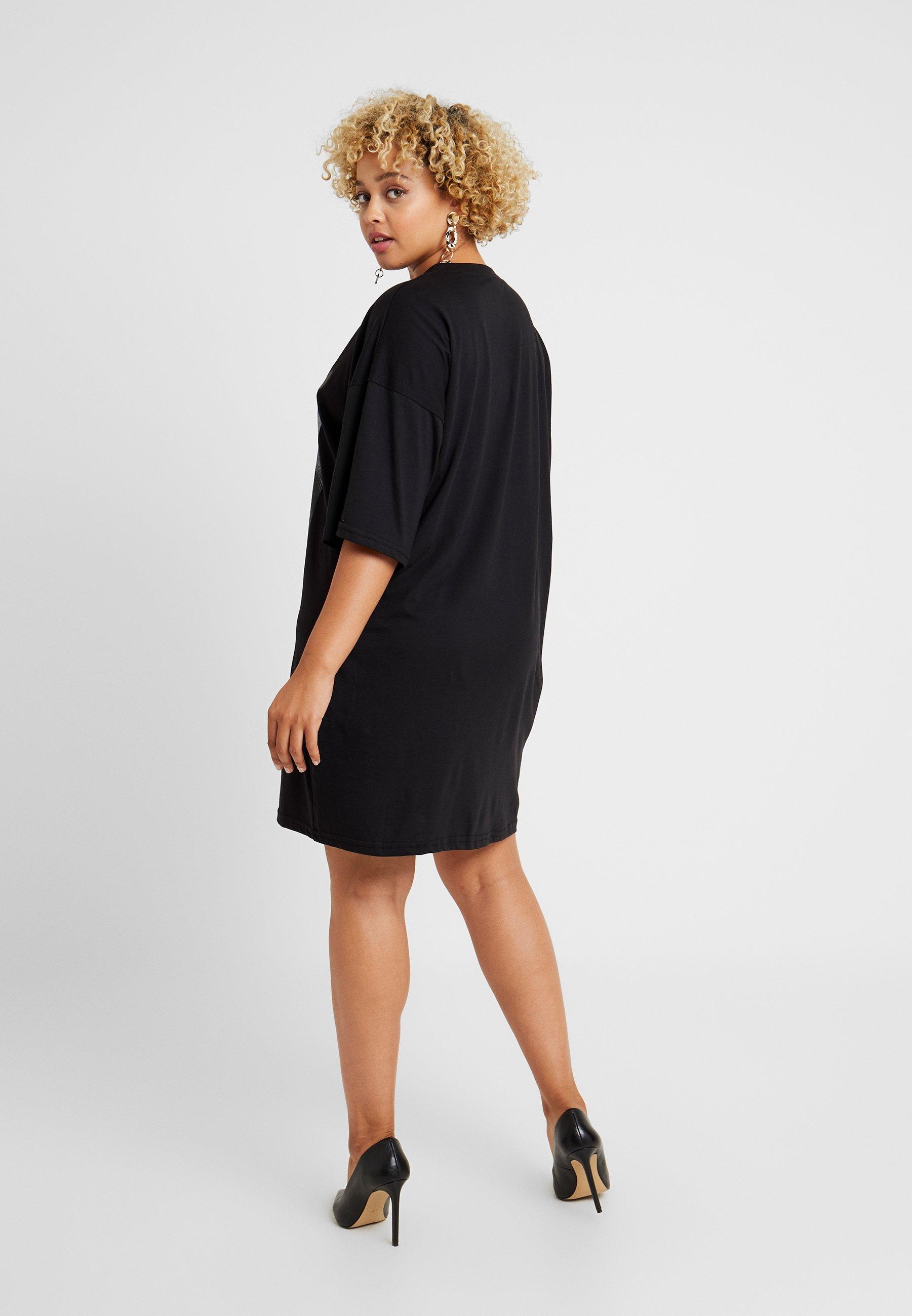 Missguided Black Feel Jersey Soul Shirt T Excluisve En Your Plus DressRobe c35L4jARq