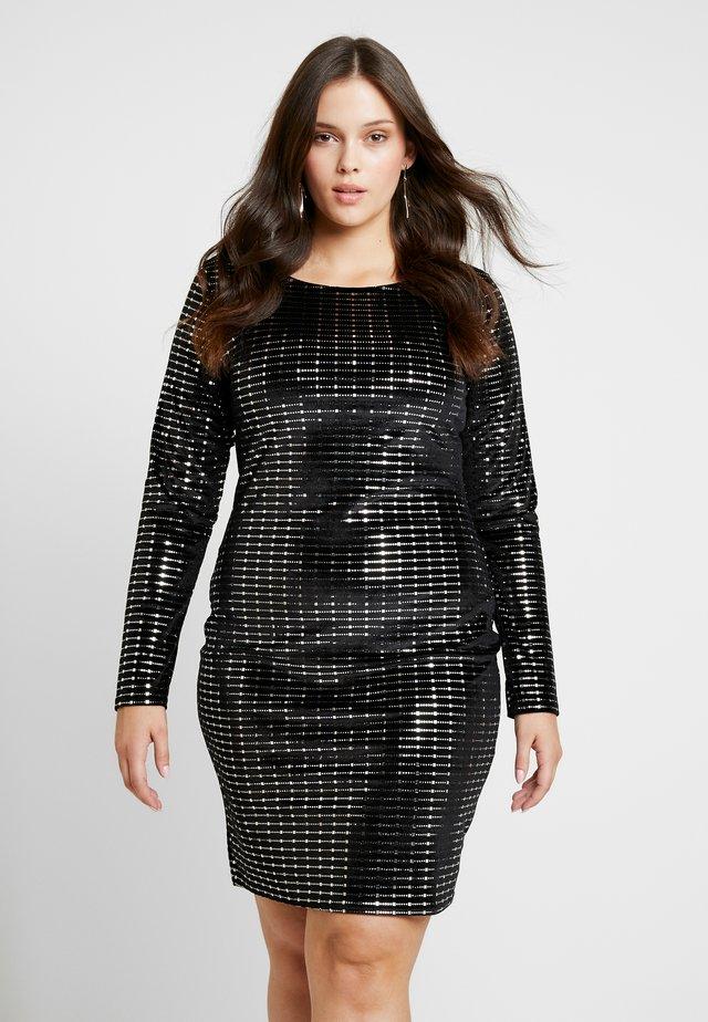 LONG SLEEVED BODYCON DRESS - Denní šaty - black