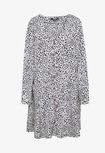 BUTTON THROUGH - Day dress - white