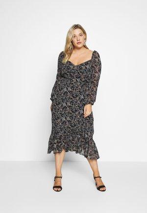 MILKMAID LONG SLEEVE MIDI DRESS - Długa sukienka - black