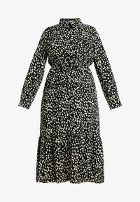 Missguided Plus - TIE FRONT RUFFLE MAXI DRESS - Skjortekjole - black - 4