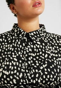 Missguided Plus - TIE FRONT RUFFLE MAXI DRESS - Skjortekjole - black - 5