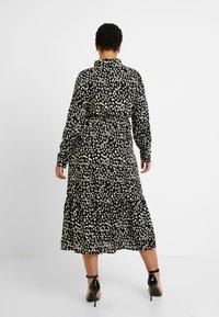 Missguided Plus - TIE FRONT RUFFLE MAXI DRESS - Skjortekjole - black - 3