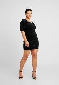 Missguided Plus - EXCLUSIVE MILKMAID DRESS - Robe d'été - black - 2