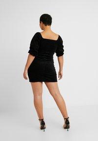 Missguided Plus - EXCLUSIVE MILKMAID DRESS - Robe d'été - black - 3