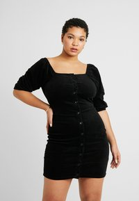 Missguided Plus - EXCLUSIVE MILKMAID DRESS - Robe d'été - black - 0