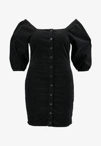 Missguided Plus - EXCLUSIVE MILKMAID DRESS - Robe d'été - black - 4