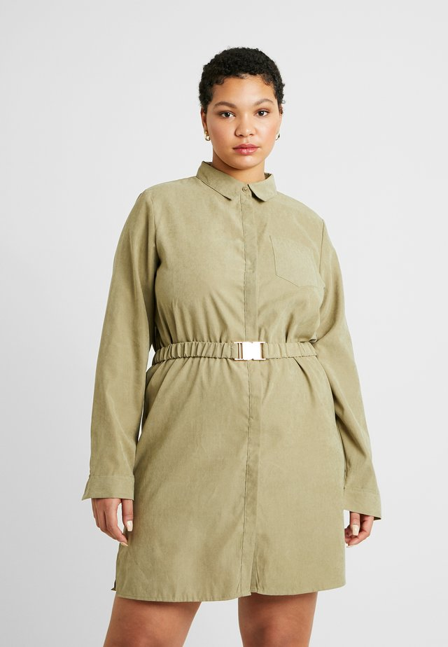 SOFT TOUCH BELTED DRESS - Shirt dress - khaki