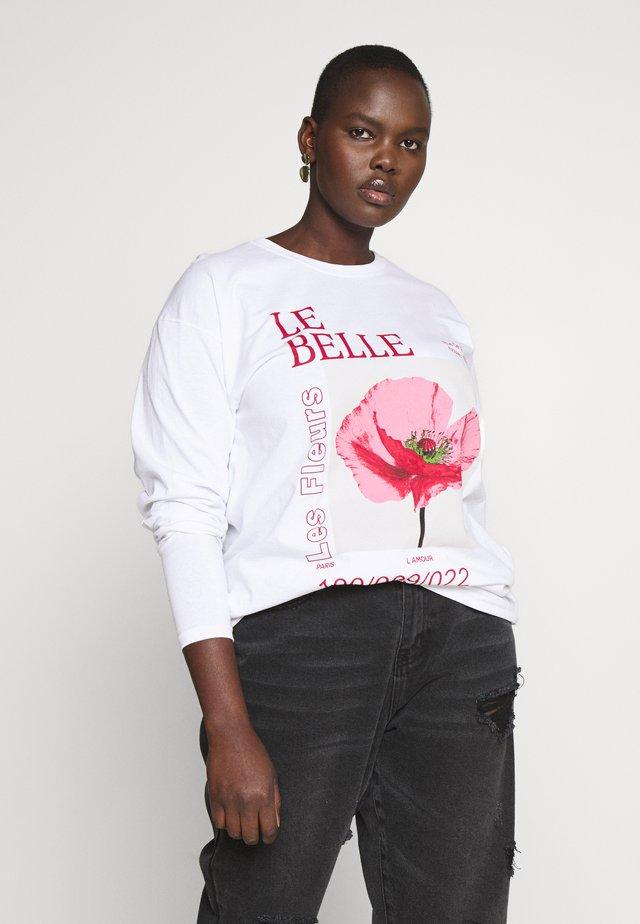 BELLE - T-shirt à manches longues - white