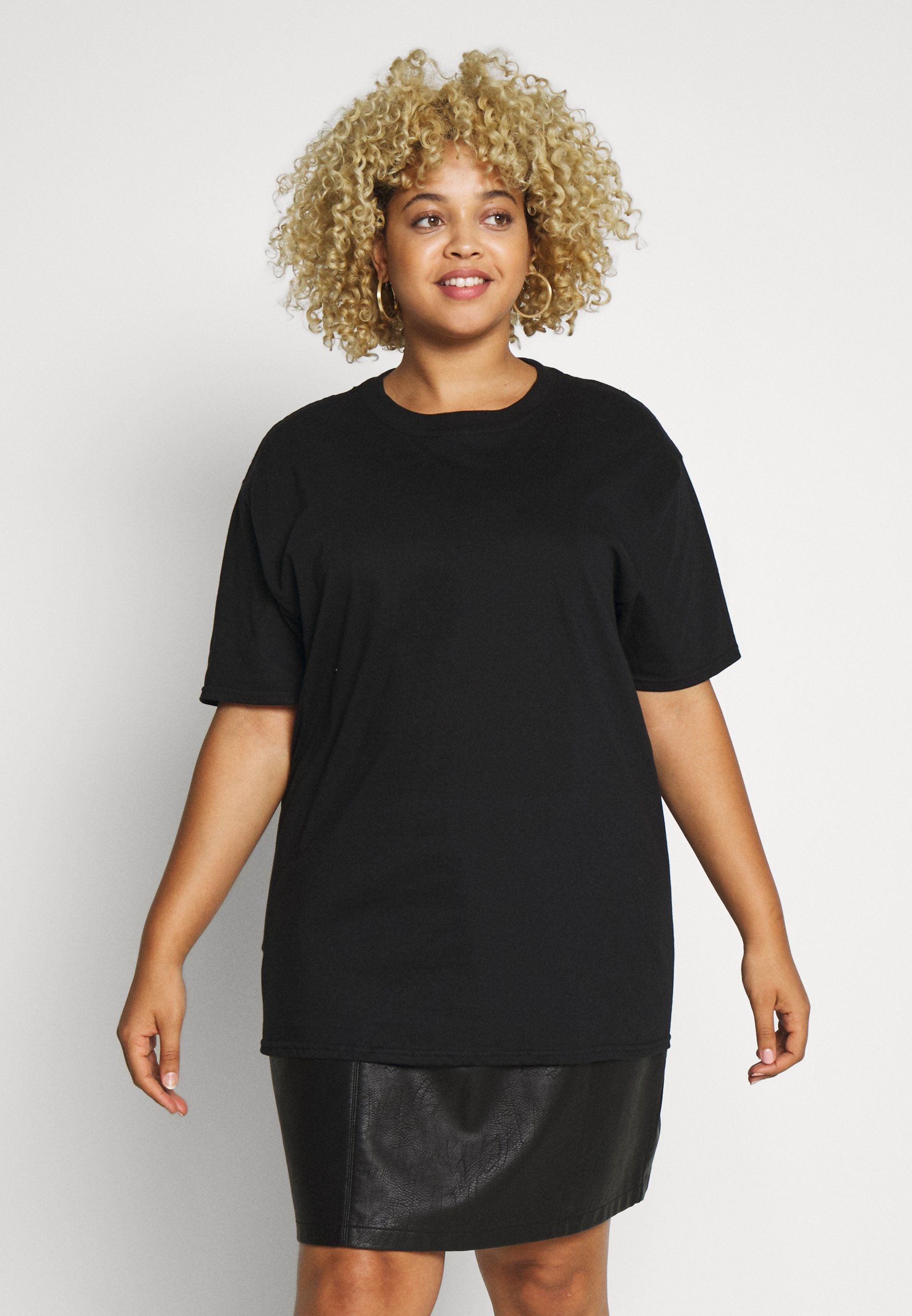 Missguided Plus PLUS  MIDNIGHT - T-shirts med print - black
